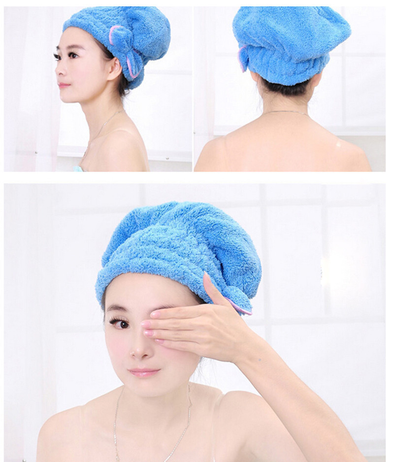 New Sale Shower Bathing Quick Dry Hair Drying Hat Bath Microfiber Fabric Cap Bathing Sanitary Ware Suite Accessories