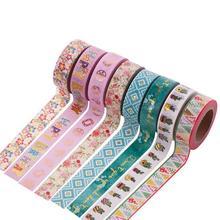 Jonvon Satone  1pcs Diy 15mm*10M Washi Tape Glitter Diary Decorative Scrapbooking Stickers Colored Tape School Supplies