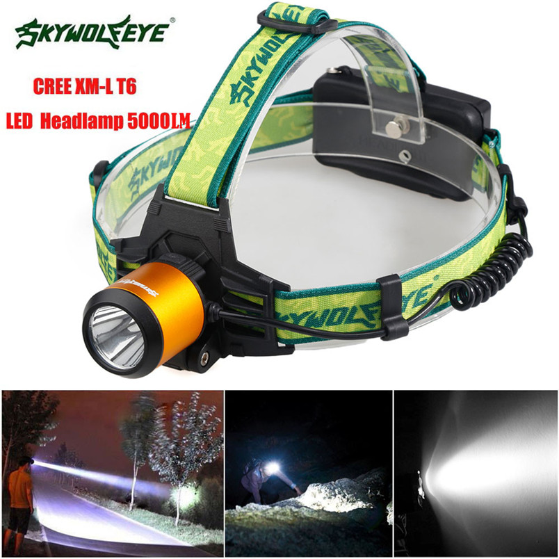 4 Types 5000LM CREE XM L T6 LED Headlamp Headlight Flashlight Head Light Lamp 18650 Torch