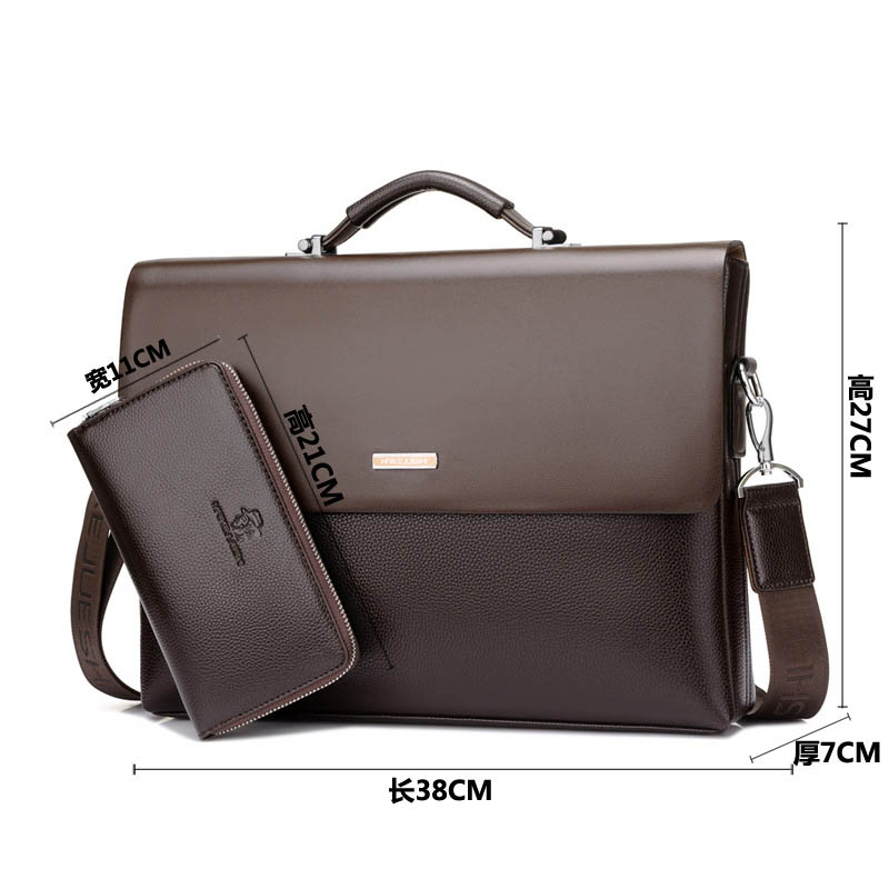 Men Bag Messenger-Bag Laptop Men's Briefcase Designer Real-Genuine-Leather Famous-Brand
