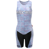 MALCIKLO 2016 Summer Sleeveless Cycling Skinsuit Fluorescent Green Men Triathlon Cycling Clothes Free Shipping