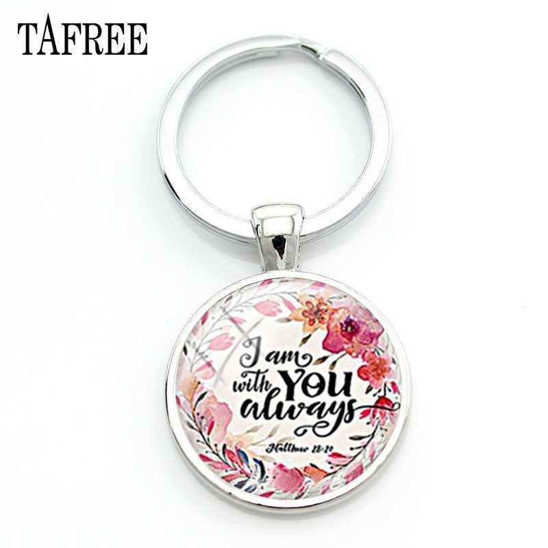 TAFREE Carta y Garland estilo llaveros Venta caliente clave cadena para mujeres mejor amigo de cúpula de vidrio personalizado arte regalo de la joyería LT29