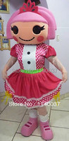 mascot girl Jewels Sparkles Mascot Costume Adult Size Lalaloopsy Cartoon Character Mascotte Outfit Suit