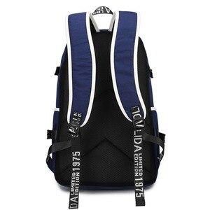Image 5 - WISHOT Game Detroit: become human Backpack rk800 bag Shoulder travel School Bag USB Charging Laptop bag Luminous bag