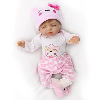 "DollMai Reborn baby dolls 18""46cm soft body silicone reborn baby dolls toys for child birthday gift bebes reborn alive doll"