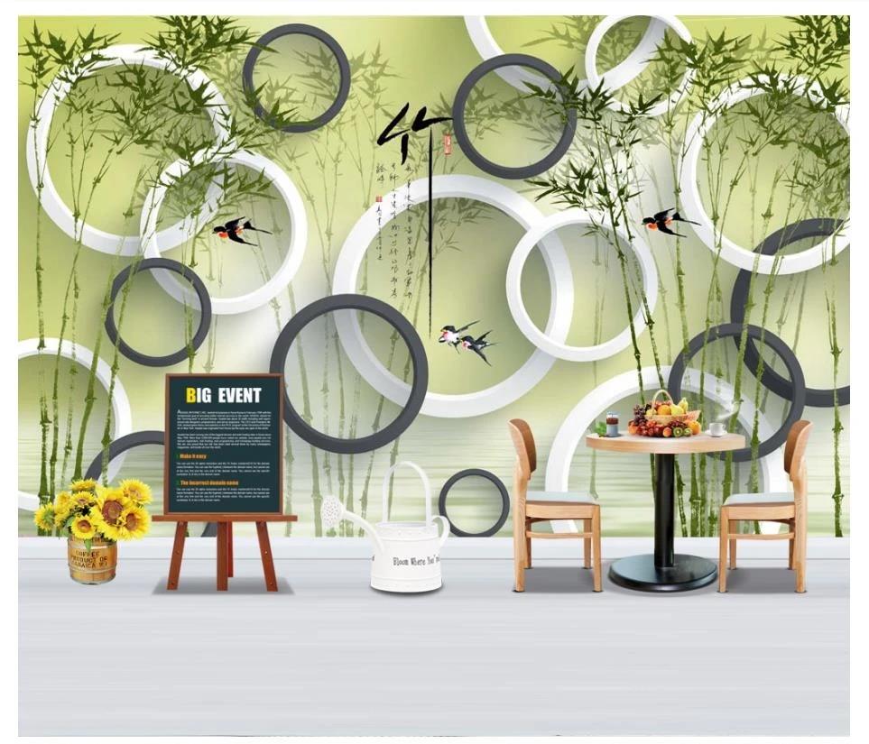Foto Kustom Wallpaper 3d Mural Wallpaper Dinding 3d Ruang Tamu Tinta Bambu Lingkaran Tv Latar Belakang Kertas Dinding Untuk Ruang Tamu Kamar Wallpaper Aliexpress