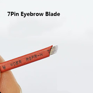 50Pcs 7Pin Eyebrow Microblading Needles Independent Package Eyebrow Manual Pen Blades Fashion Permanent Tattoo Needles