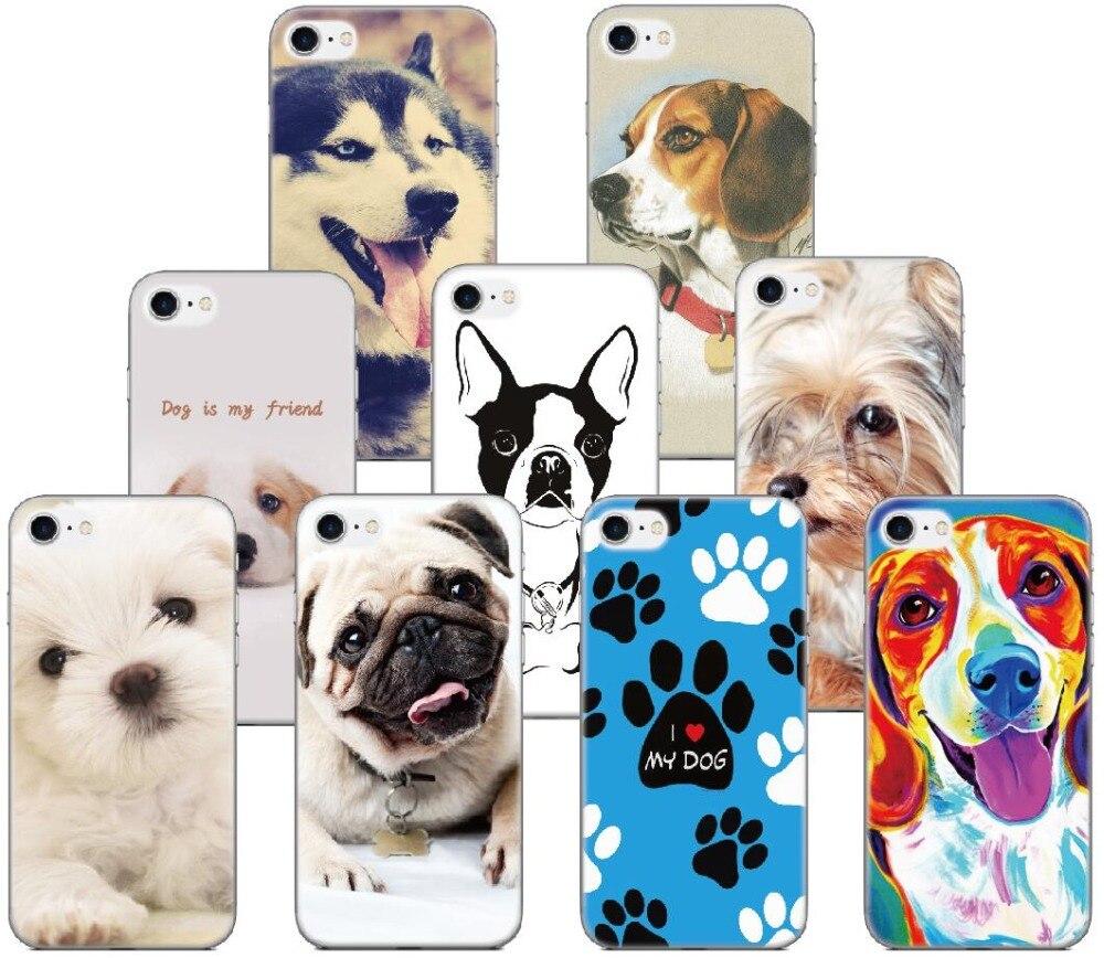 Printed Pet Dog Case For Samsung Galaxy A5 A7 2018 Version S9 Plus S5 S6 S7 Edge Note 3 4 5 E5 Phone Cover Coque Capa Fundas