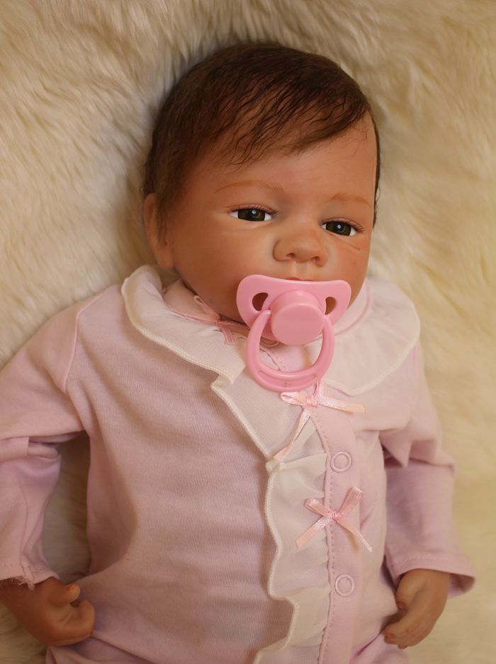 20 soft silicone doll reborn girls toys real newborn baby looking soft touch children lover bebe gift reborn menina in dolls from toys hobbies on