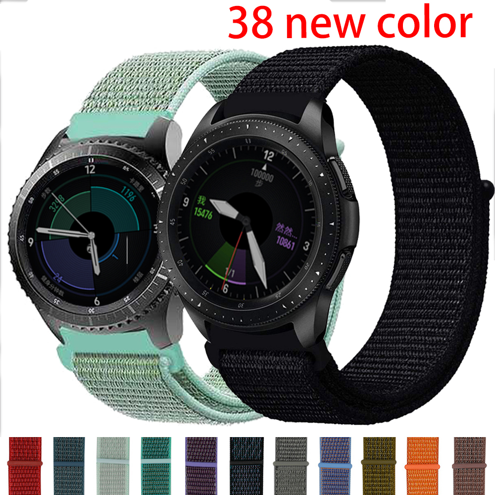 EIMO 20 22mm Watch Band For Samsung Gear S3 Frontier Nylon