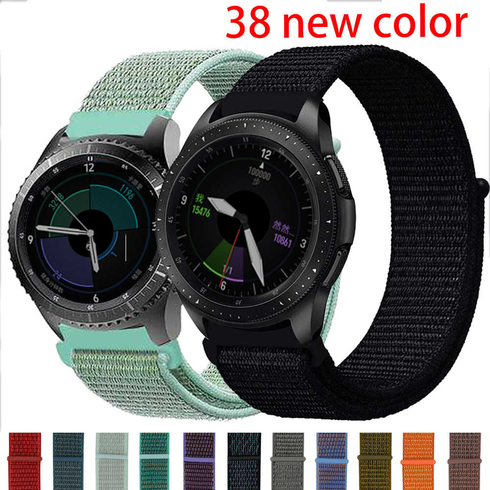 22mm watch band For Samsung galaxy watch 46mm 42mm Gear s3 Frontier gear sport 20mm nylon amazfit bip huawei watch gt strap