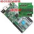 HD C10 HD-C10 RGB full color display LED placa de controle com 1 pc adaptador de cartão 8 * HUB75 HUB75B