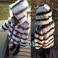 Popular New Child fur coat,Children's 100% Rex rabbit fur coat,Cute Baby winter coats Chinchilla coat overcoats fur jacketCF501N