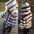 Popular novo casaco de pele, Crianças de 100% Rex coelho casaco de pele, Bebê casacos de inverno casaco casacos de pele de chinchila jacketCF501N