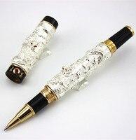 Marker Stationery JINHAO Brand Silver Dragons Roller Ball Pen Boligrafos Cute Ball Pen School Supplies Christmas