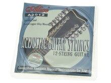 Alice 12-String 1st-12th Acústico Folk Guitar Cordas de Aço Inoxidável Revestido de Cobre Liga de Feridas
