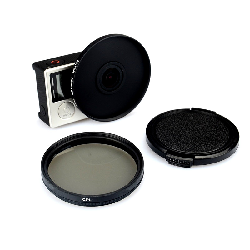 For Gopro Hero 3/3+ 4 52mm Alloy Adapter Ring + CPL Circular Polarizer Filter + Lens Cap Filtor Protector for Gopro Accessories thhone skinny jeans women mid waist denim pant long trousers casual fashion pencil pants femme stretch embroidered jeans women