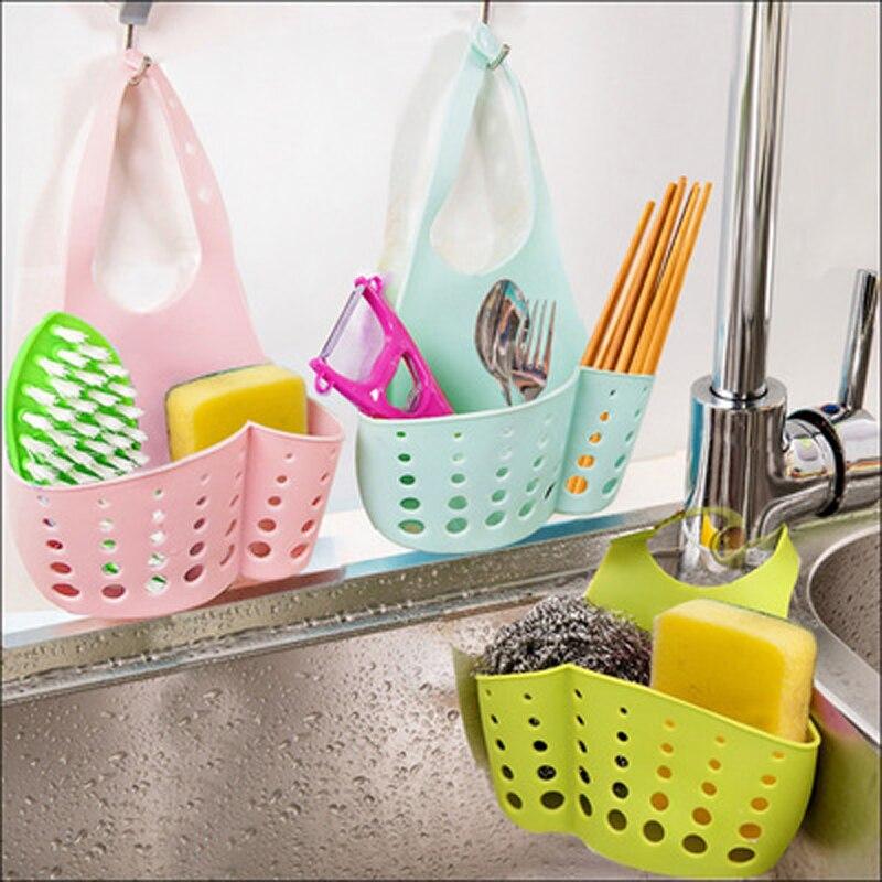 Sink Drain Hanging Basket Bag Bath Portable Kitchen Sink Storage Accessories my