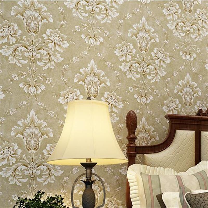 Beibehang damas relief papier peint pour salon 3d papier peint rouleau toile de fond plancher papier papel de parede sala papier peint