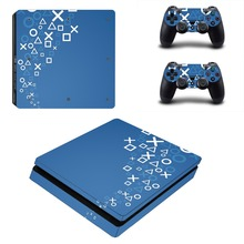 Vinyl Decal Skin For PS4 Slim Console Cover For Playstation 4 PS4 Slim Skin Stickers+ Controll