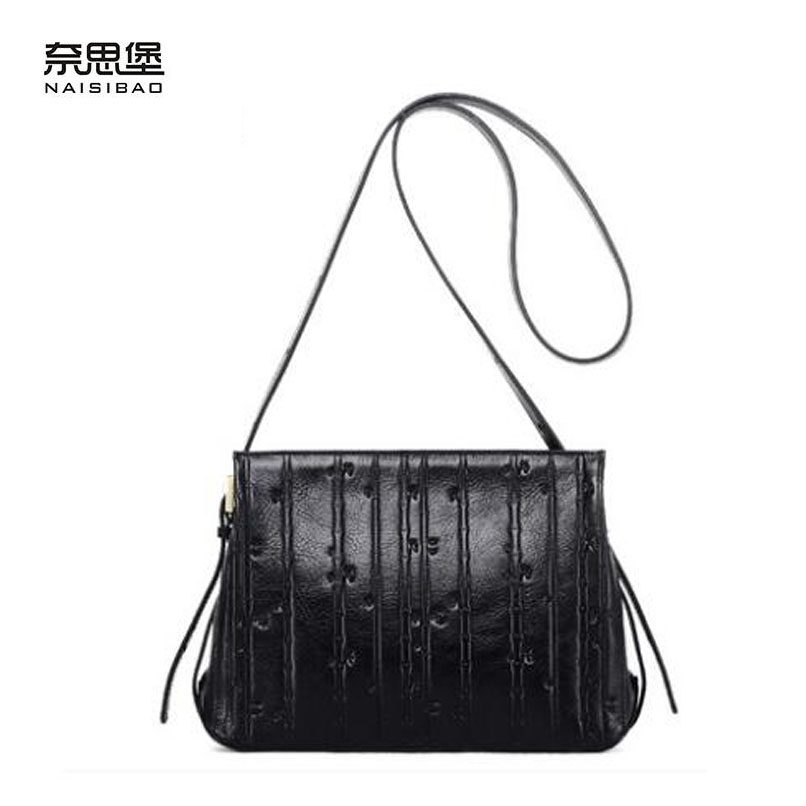 Cow leather handbag  free delivery  New leather women bag Retro shoulder Messenger bag Fashion small square package