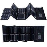 40 واط طوي المحمولة الشمسية شاحن ثنائي الإخراج (منفذ usb + 18 فولت dc الإخراج)