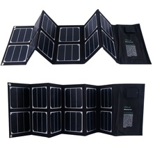 40W Foldable Solar Panel Portable Solar Charger Dual Output USB Port 18v DC Output