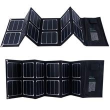 40W Foldable Solar Panel Portable Solar Charger Dual Output (USB Port + 18v DC Output)