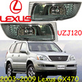 Car-styling, Lexu GX470 luz de niebla, UZJ, 1 unids, Halógeno, 2003 2004 2005 2006 2007 2008 2009 AÑOS, GX470 luz antiniebla, LX570