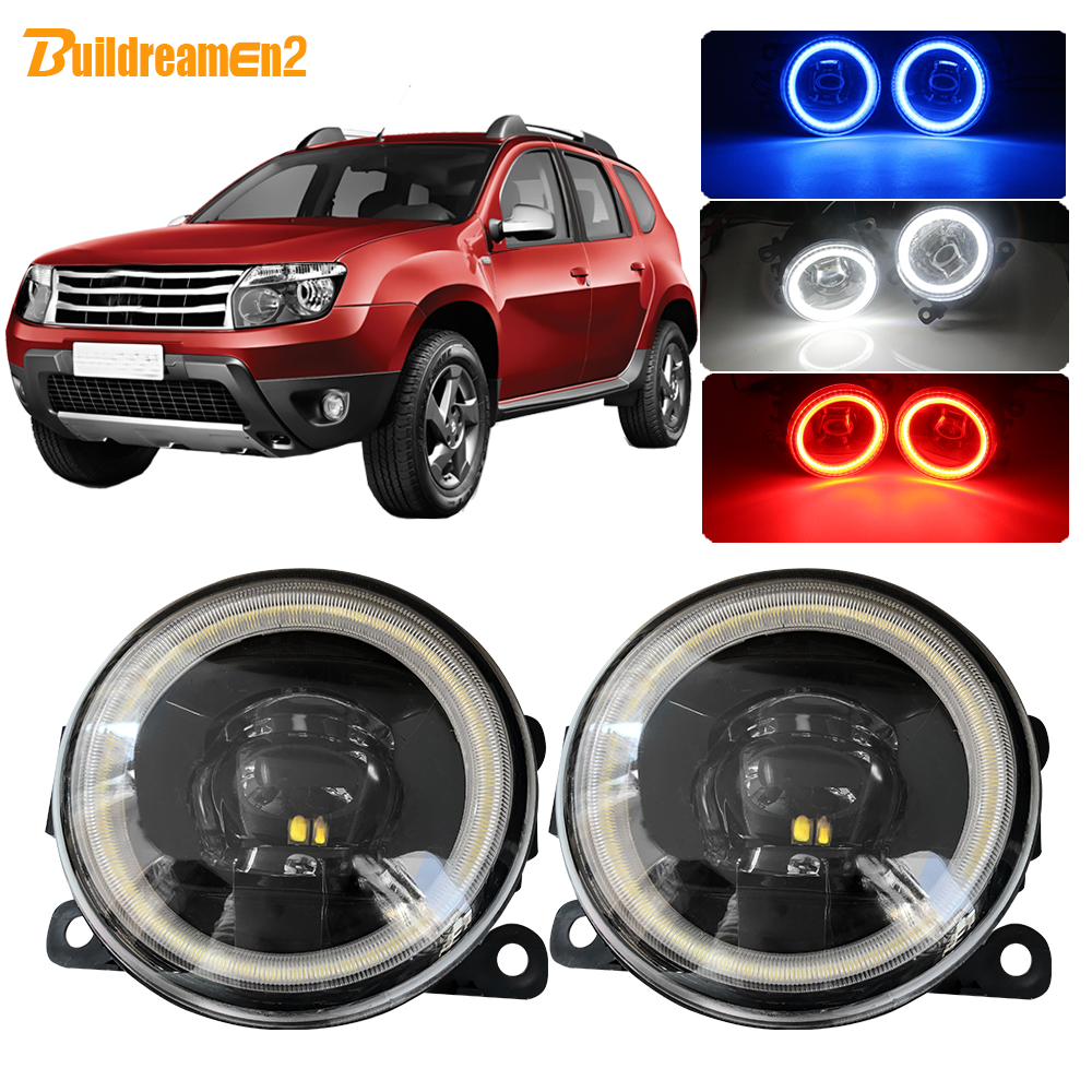 Buildreamen2 For <font><b>Renault</b></font> <font><b>Duster</b></font> Car 4000LM <font><b>LED</b></font> Lamp Fog Light Angel Eye Daytime Running Light 12V Styling 2012 2013 2014 2015 image