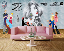 beibehang Custom fashion stereo wallpaper retro hand-painted beauty clothing store indoor tooling wall papers home decor behang