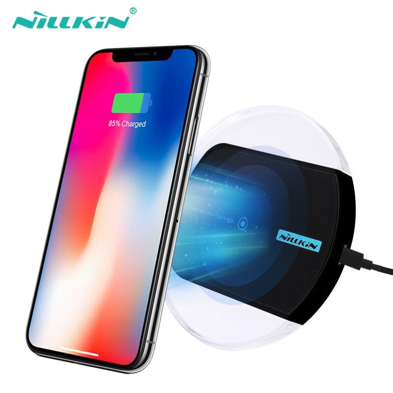 NILLKIN Qi cargador inalámbrico para iPhone XS/XR/X/8/8 Plus para Samsung S10/ s10E/nota 8/S9/S8/S8 Plus almohadilla de carga para Xiaomi mi 9