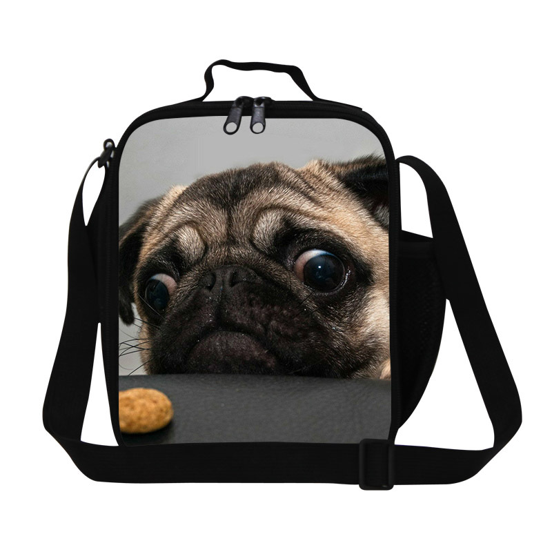 Personalized cute pug dog lunch bag for girls 40fd8777ca