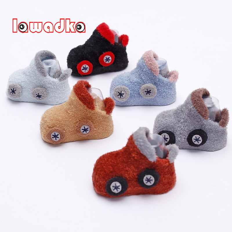 Lawadka Coral Fleece Baby Socks Cute Car Pattern Baby Girls Socks Newborn Soft Winter Warm Baby Boys Socks S(3M-9M,)andM(12-24M)