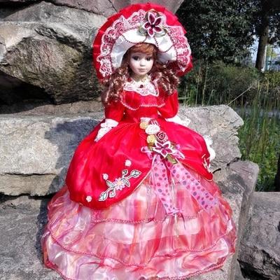 Hauteur 41 cm bien-être russie poupée en céramique mobilier de maison européen personnalité créative mignon bébé poupée pour bébé cadeaux