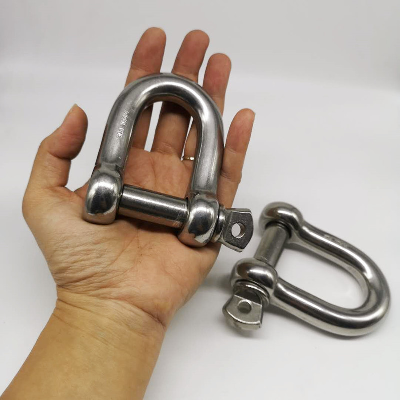 16mm ,2pcs Stainless Steel 304 D- Dee Type Shackle , High Quality Shackle