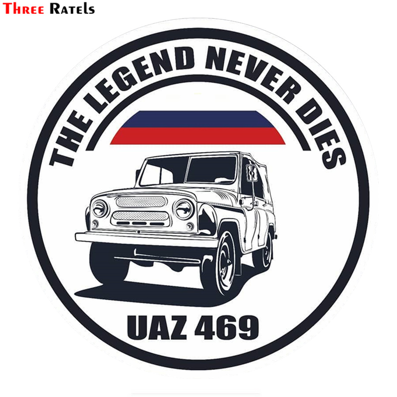 Three Ratels TRL617# 14x14cm UAZ 469 Car Funny Car Stickers Car Stickers And Decals