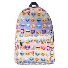 Эмодзи печати для девочек-подростков SAC DOS рюкзак Кто заботится мягкая ручка Bookbag школьные сумки рюкзак женщины Mochila