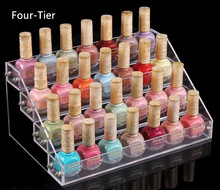 4 Tiers Makeup Cosmetic Display Stand Clear Acrylic Organizer Mac Lipstick Jewelry Holder Nail Polish Rack