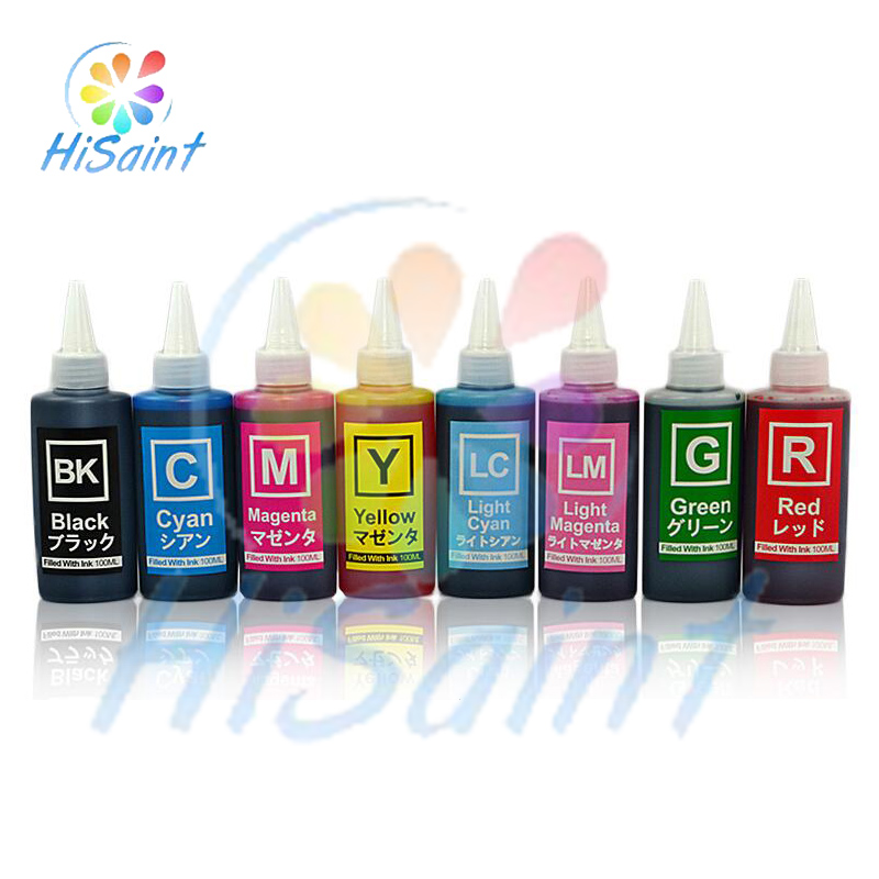 ФОТО Hisaint high quality Specialized Pigment ink for Epson R800 R1800 Printer Dye refill ink suit for Epson T0540 T0541 - T0549