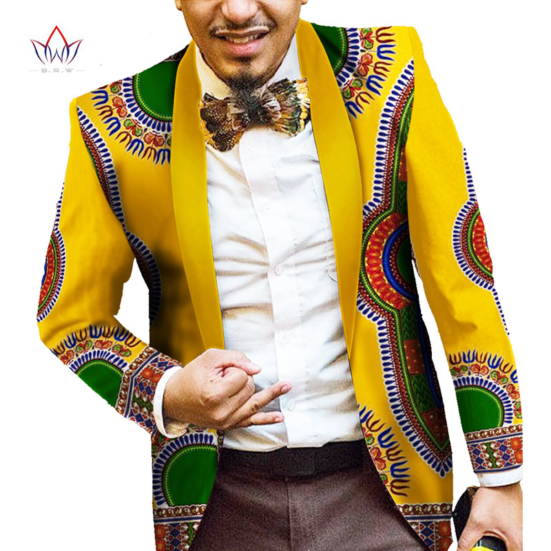 Men African Clothes Print Blazer Jackets Long Sleeve Trendy Mens Ankara Fashions Blazer Slim Fit 6XL