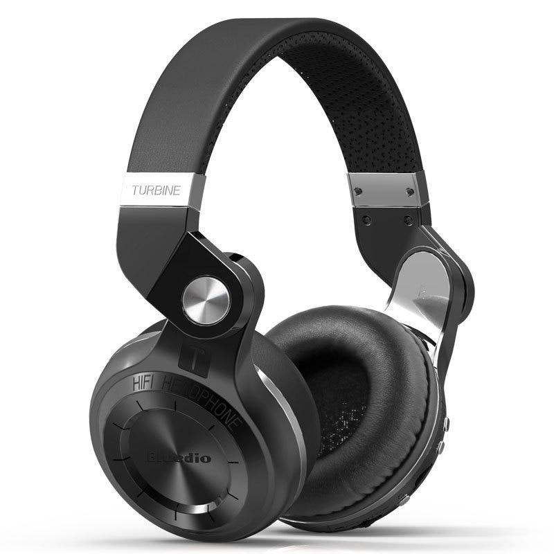 100% Original Bluedio T2+ Wireless Bluetooth 5.0 Stereo Headphone Headset Earphone Foldable Stretchable Support  Sd Card FM Mic