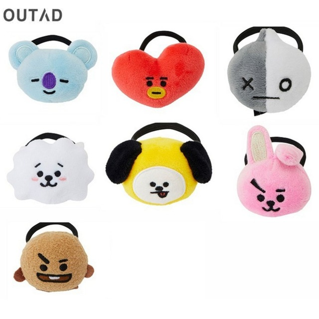 Hair Band Tie Bangtan Boys Suga TATA Chimmy RJ Cooky Doll With Hair Tie Hair Rope Headband Accessories