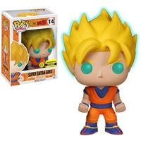 Exclusive Official Funko pop Glow in the dark Amine: Dragon Ball Z Super Saiyan Goku Vinyl Action Figure Collectible Model Toy