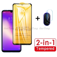 2 in 1 For Redmi Note 7 Tempered Glass for Xiaomi Pro New Full Cover Screen Protector Camera Lens Protective Film