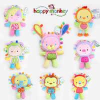 35 cm Plüsch Rassel Spielzeug Tier Hand Glocken Sound Plüsch Baby Spielzeug Newbron Geschenk Tier elefant affe lion kaninchen Puppe b0954