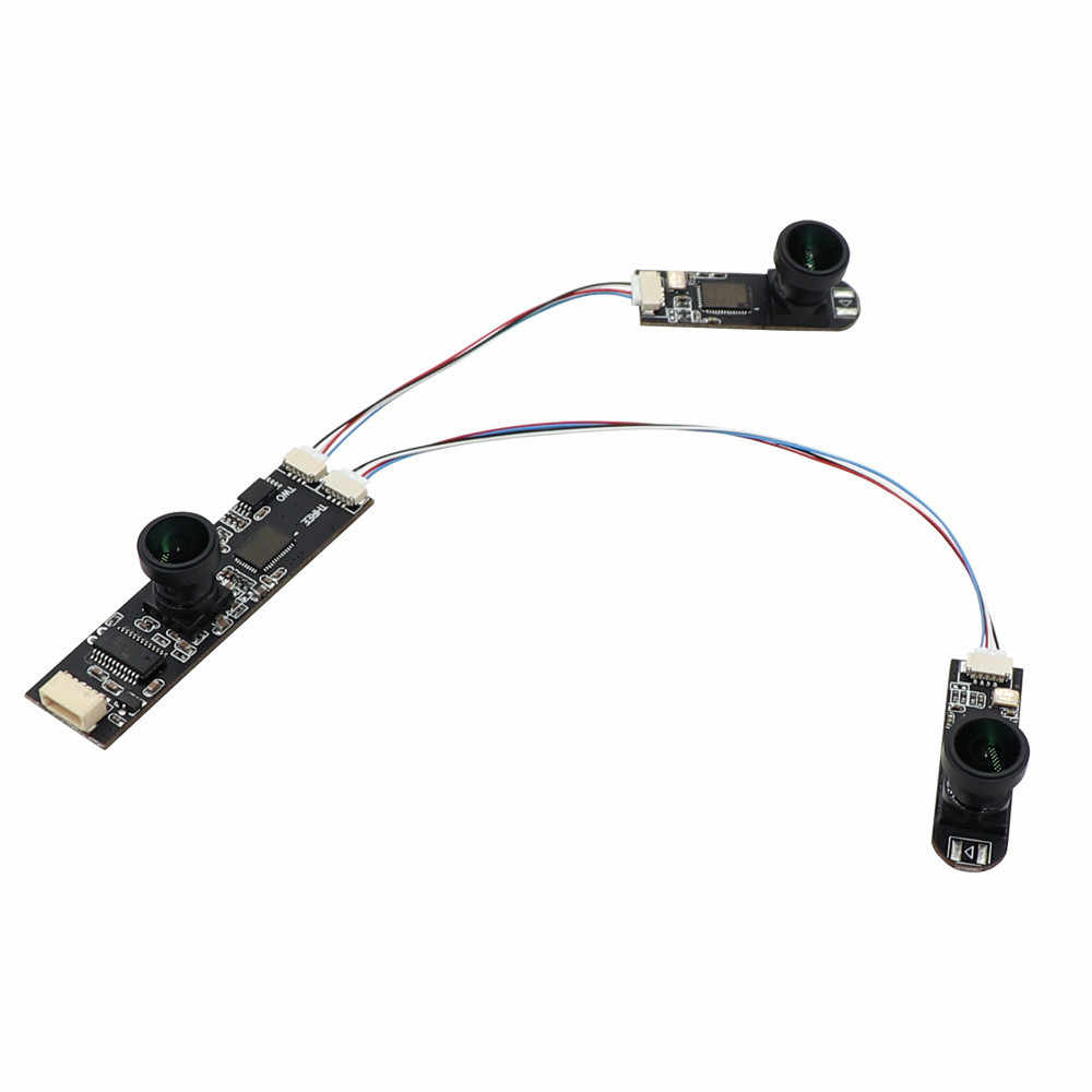 UVC HD Three Simultaneous USB Camera Module Wide View Angle MJPEG 30fps Industrial Plug Play Stereo Webcam