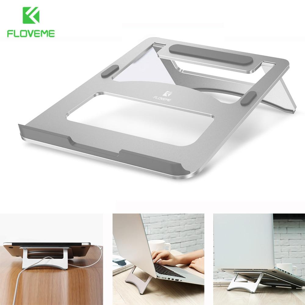 FLOVEME Universal Use Notebook Laptop Holder Stand Support Aluminum Foldable Desk Holder For Macbook Notebook Dock Support