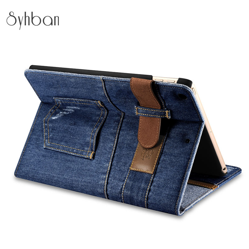 Better Denim quality wallet for the iPad to 9.7 with the band side, turn luxury stay smart cover case for iPad 9.7 tablet cover