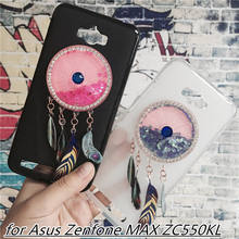 Newest Colorful Case Cover for Asus Zenfone MAX ZC550KL Capa Fundas Liquid Glitter Quicksand(China)